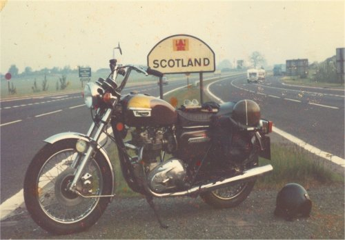 At the Scottish border in 1984